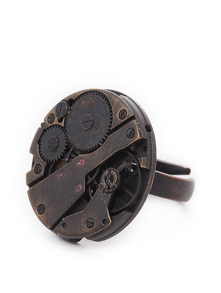 Classic Watch Mechanism Copper Adjustable Ring