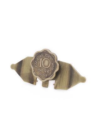 Classic Ten Paisa Coin Brass Adjustable Ring