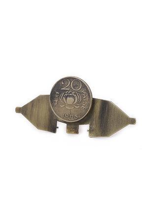 Classic Twenty Paisa Coin Brass Adjustable Ring