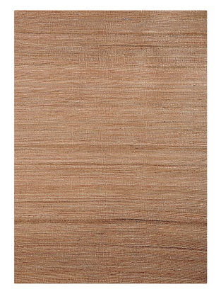 Beige Handwoven Jute and Cotton Dhurrie (L:5ft10in, W:3ft11in)