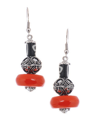 Red-Black Brass Earrings