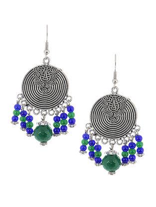 Green-Blue Brass Earrings