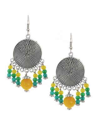 Green-Yellow Brass Earrings