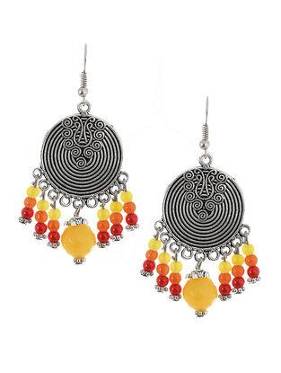 Yellow-Red Brass Earrings