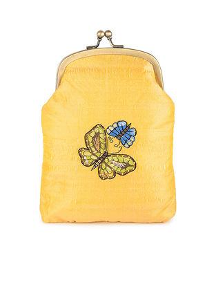Yellow Thread-Embroidered Silk Batuwa