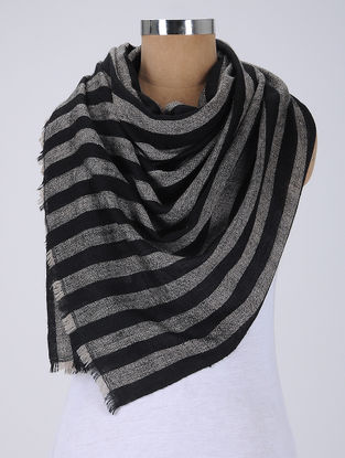 Black-Grey Pashmina Stole