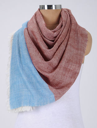Red-Blue Pashmina Stole