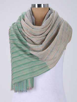 Green-Multicolor Pashmina Stole