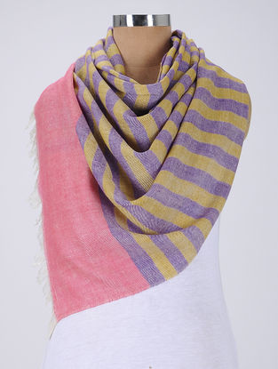 Yellow-Purple Pashmina Stole