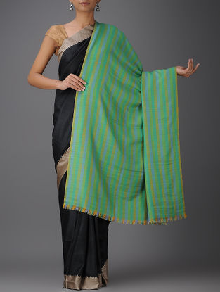Green-Grey Pashmina Reversible Shawl