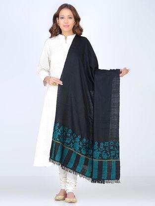 Black-Blue Pashmina Kani Paldar Shawl
