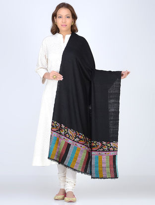 Black-Multicolored Pashmina Kani Paldar Shawl