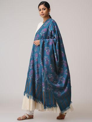 Blue-Pink Kani Pashmina Shawl