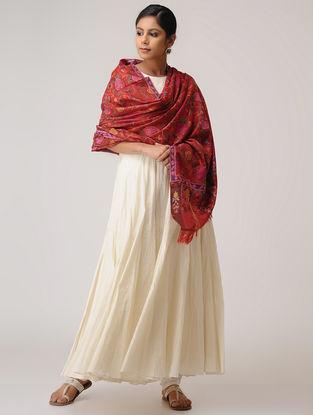 Red-Pink Kani Pashmina Shawl