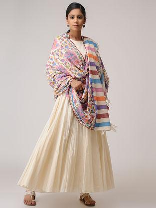 Ivory-Pink Kani Pashmina Shawl