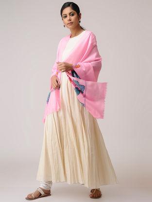 Pink-Blue Kani Pashmina Shawl