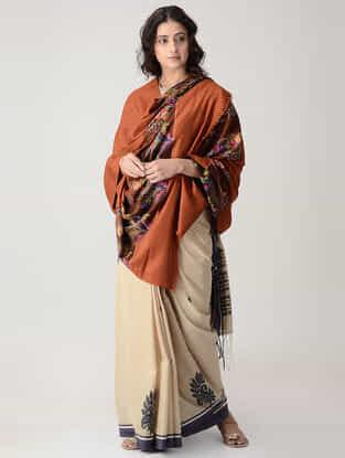 Brown-Green Kani Paldar Pashmina Shawl