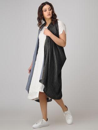 Black-Blue Pashmina Cashmere Reversible Shawl