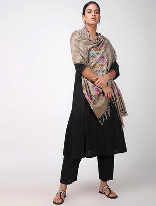 Beige-Pink Pashmina Cashmere Kani Shawl