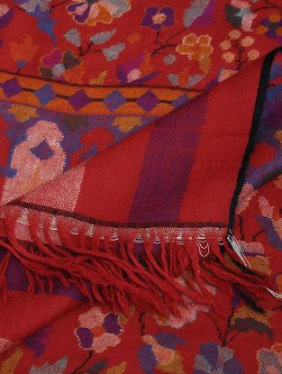 Red-Blue Pashmina Kani Shawl