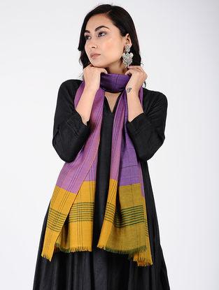Purple-Yellow Pashmina Stole