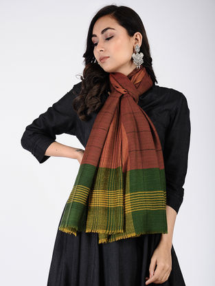 Red-Green Pashmina Stole