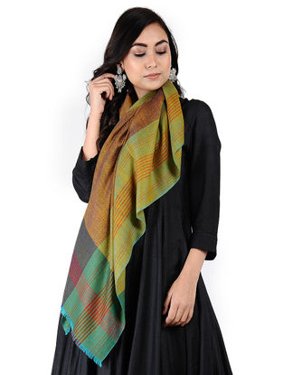 Green-Red Pashmina Stole