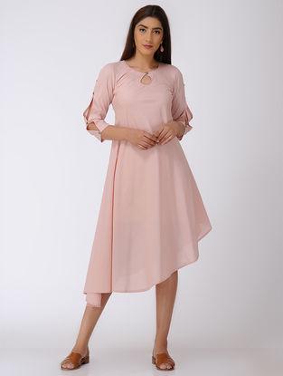 Pink Asymmetrical Cotton Dress
