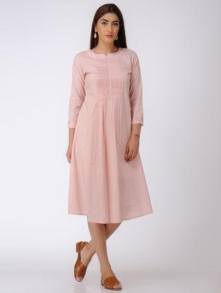 Pink Pintuck Cotton Dress