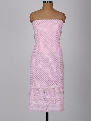 Pink Chikankari Georgette Kurta Fabric with Mukaish