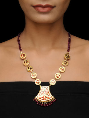 Ruby Thewa Art Gold-plated Silver Necklace