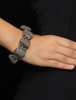 Blue Thread Silver Bracelet