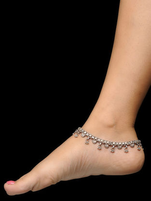 Vintage Silver Anklets (Set of 2)
