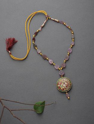 Tourmaline Beaded Polki Gold Necklace