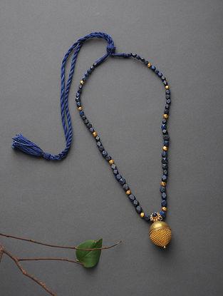 Lapis Lazuli Beaded Gold Necklace
