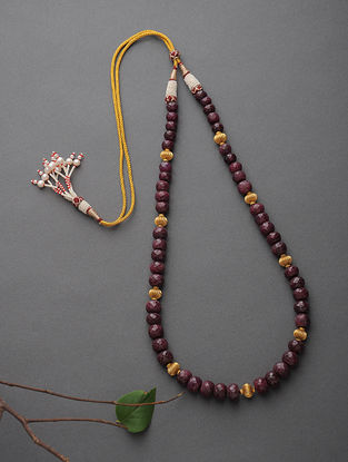 Ruby Beaded Gold Necklace