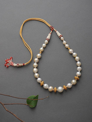 South Sea Pearl Beaded Gold Necklace