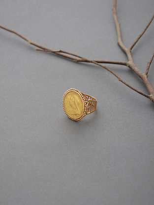 Coin Gold Ring (Ring Size -7.5)