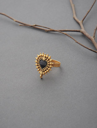 Blue Sapphire Gold Ring (Ring Size -6)