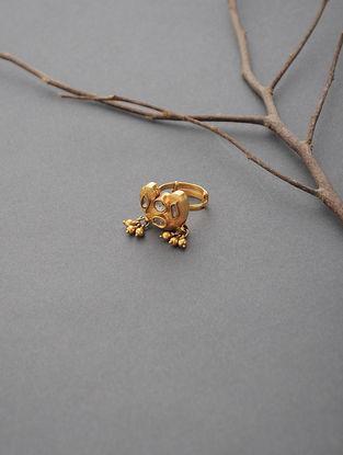 Polki Adjustable Gold Ring