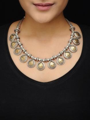 Dual Tone Silver Necklace