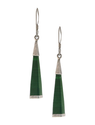 Malachite Silver Earrings