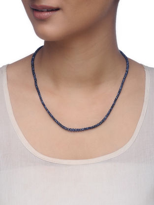 Blue Sapphire Silver Necklace