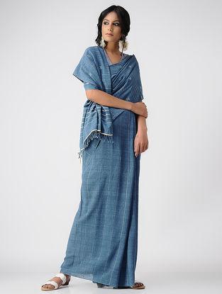 Blue Natural-dyed Kala Cotton Saree