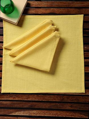 Yellow Cotton Slub Napkins (Set of 4) (15in x 15in)