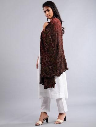 Red-Black Bandhej Silk Dupatta