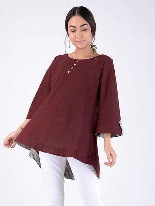 Maroon Handloom Cotton Top