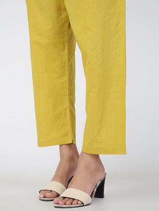 Yellow Tie-up Waist Handloom Cotton Pants
