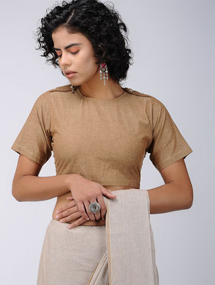 Brown Cotton Blouse
