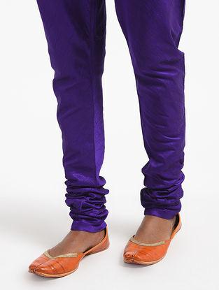 Purple Elasticated Waist Silk Cotton Churidar
